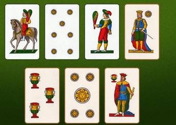 gioco della scopa con carte napoletane da