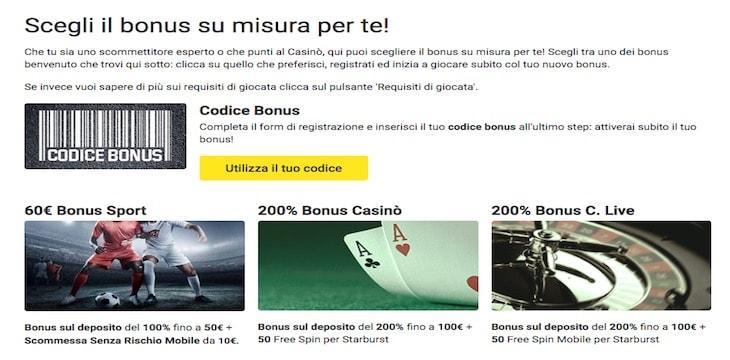 scegli il bonus