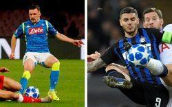 Inter e Napoli Champions League