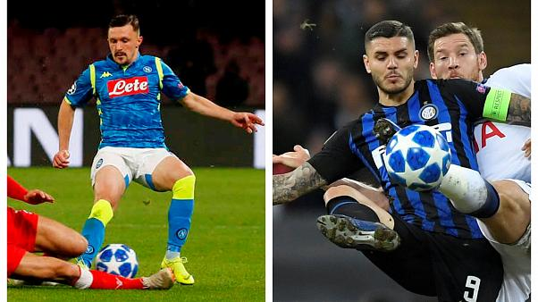 Inter e Napoli Champions League